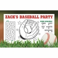 Baseball Custom Activity Placemats