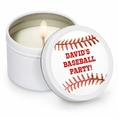 Baseball Custom Candles