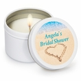 Beach Love Bridal Shower Custom Candles