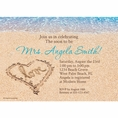 Beach Love Bridal Shower Custom Invitation