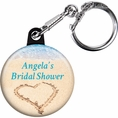 Beach Love Bridal Shower Custom Keychain