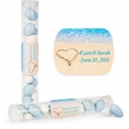 Beach Love Custom Wedding Candy Tubes
