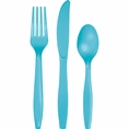 Bermuda Blue Assorted Plastic Cutlery 24 Count