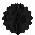 "Black 8"" Honeycomb Tissue Ball"