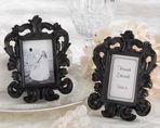 Black Baroque Place Card Holder