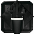 Black Velvet Party Tableware
