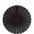 "Black Velvet 16"" Tissue Fan"