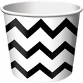 Black Velvet Chevron Paper Treat & Ice Cream Cups