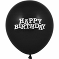 Black Velvet Happy Birthday Balloons