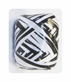 Black Zebra Stripe Curl Ribbon