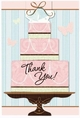 Blushing Bride Wedding & Bridal Shower Thank You Notes