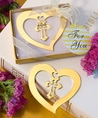 Book Lovers Collection Heart And Cross Design Bookmark Favors