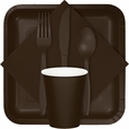 Chocolate Brown Party Tableware