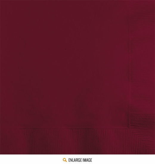Burgundy Drink Napkins - 50 ct are sold 50 per package.
