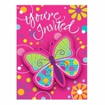 Butterfly Sparkle Postcard Invitations