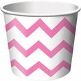Candy Pink Chevron Paper Treat & Ice Cream Cups
