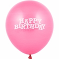 Candy Pink Happy Birthday Balloons