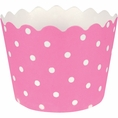 Candy Pink Polka Dot Baking Cups
