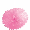 Candy Pink Pom Pom Tissue Decorations