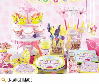 Lavendar, pink and yellow Castle Party Supplies