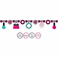 Pink Zebra Boutique Circle Ribbon Banner with Stickers
