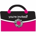 Pink Zebra Boutique Born to Shop Invitations