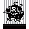 Pirate Parrty Thank You Notes