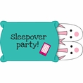 Pink Zebra Boutique Sleepover Popup Invitations