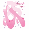 Ballerina Foldover Thank You Cards