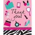 Pink Zebra Boutique Foldover Thank You Notes