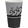 Chic Wedding Cake 12 oz Cups