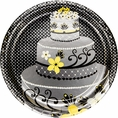 Chic Wedding Cake Banquet Plates