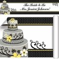 Chic Wedding Cake Bridal Shower Custom Banner