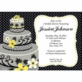 Chic Wedding Cake Bridal Shower Custom Invitation