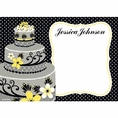 Chic Wedding Cake Bridal Shower Custom Thank You Note