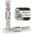 Chic Wedding Cake Custom Candy Tubes