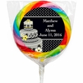 Chic Wedding Cake Custom Lollipops