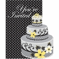 Chic Wedding Cake Invitations