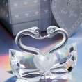 Crystal Kissing Swans Favor