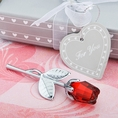 Crystal Red Roses Favor