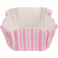 Classic Pink Stripe Square Baking Cups