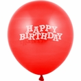 Classic Red Happy Birthday Balloons