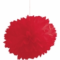 Classic Red Pom Pom Tissue Decorations