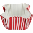 Classic Red Stripe Square Baking Cups