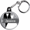 Classic Wedding Bridal Shower Custom Keychain