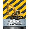 Construction Birthday Zone Invitations