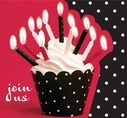 Cupcake Blowout Birthday Party Invitations