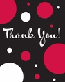 Cupcake Blowout Dots Thank You Cards