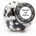 Damask Wedding Custom Candy Jars
