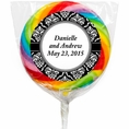 Damask Wedding Custom Lollipops